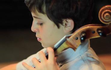 Student Plays Cello Suite #1 by Johann Sebastian Bach